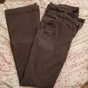 Gray AE kickboot pants